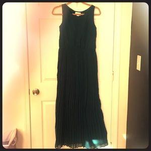 Flowing Green Dress